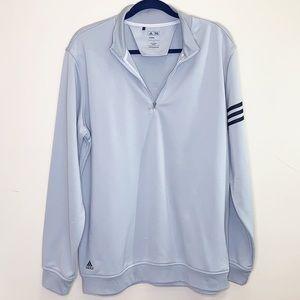 Adidas Golf Climalite grey half zip pullover SZ L